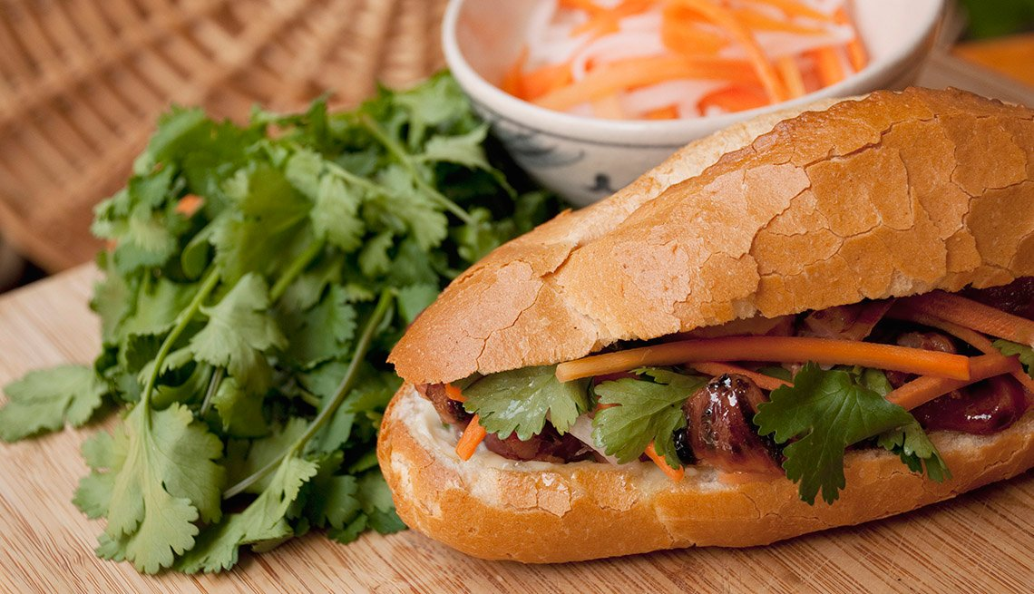 Vietnamese Banh Mi Sandwich, AARP Food And Recipes, Authentic Asian Dishes