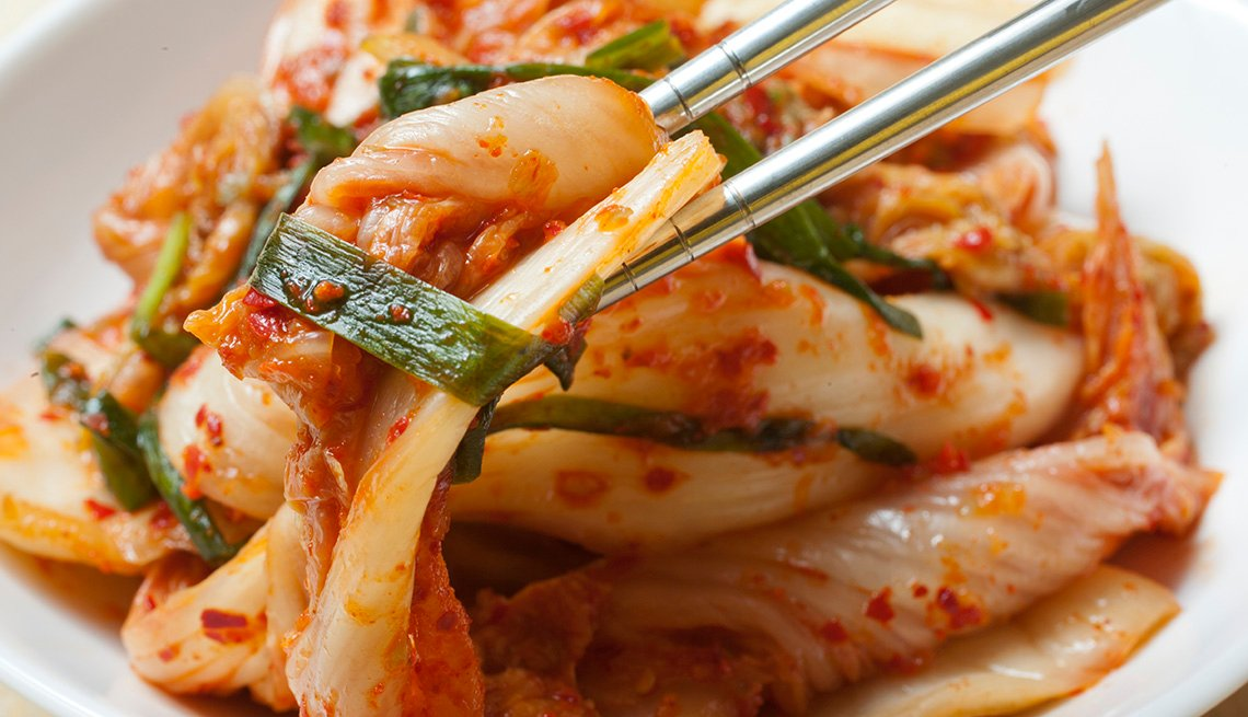 Korean Spicy Cabbage Known As Kimchi, Food, AARP Food And Recipes, Authentic Asian Dishes