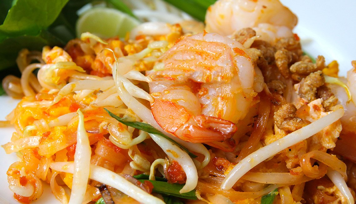 Pad Thai, Shrimp, Thai Food, AARP Food And Recipes, Authentic Asian Dishes