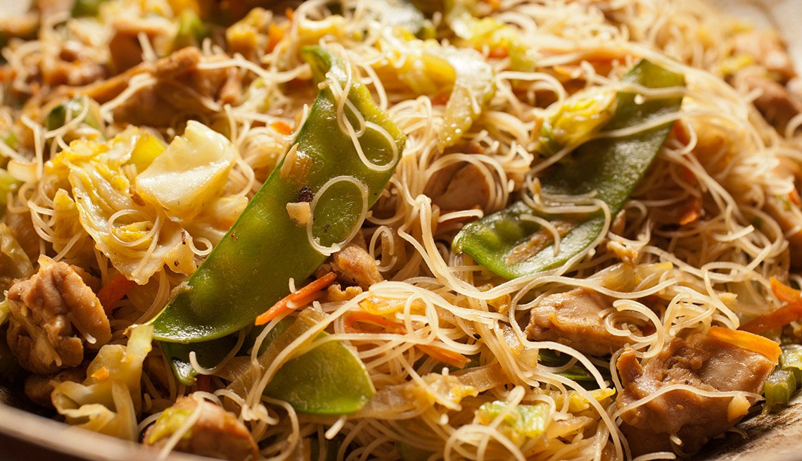 Pancit, Rice Noodle, AARP Food And Recipe, Authentic Asian Dishes