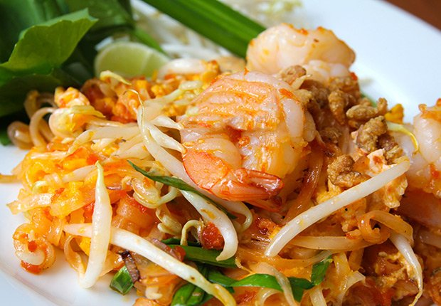 Pad Thai from Thailand. A Taste of Asia.