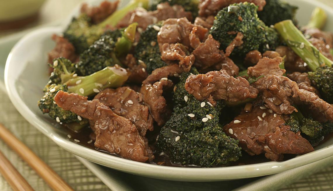 Carne de res con brócoli