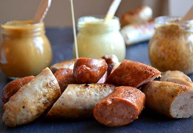 Salchichas con mostaza- Refrigerios saludables y fáciles para el Super Bowl