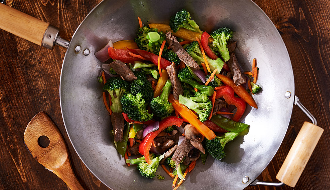 item 9 of Gallery image - vegetables in a wok