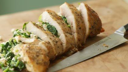 Recetas para prevenir el cancer de colon: Pechugas de pollo rellenas al estilo griego