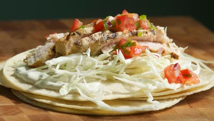 Grilled Fish Tacos recipe to prevent colon cancer