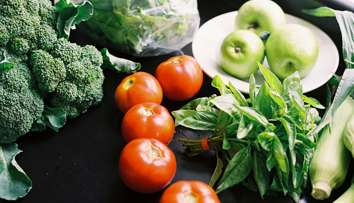 Fresh fruit and vegetables, healthy prostate