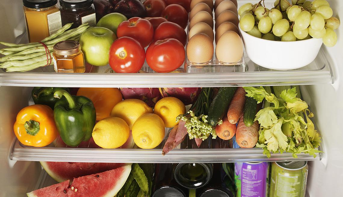 Open Refrigerator Fruits Vegetables, Foods Prevent Colon Cancer