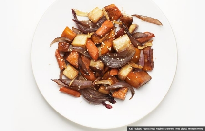 Roasted Squash, Butternut Squash Recipe (Kat Teutsch; Food Stylist: Heather Meldrom; Prop Stylist: Michelle Wong)