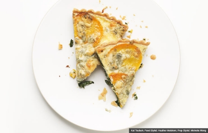 Squash Tart, Butternut Squash Recipe (Kat Teutsch; Food Stylist: Heather Meldrom; Prop Stylist: Michelle Wong)