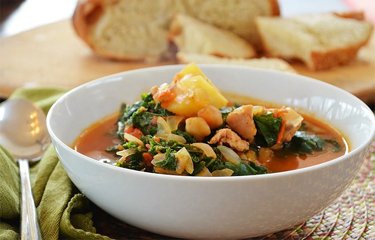 Portuguese Kale Soup. Superfood Soup Recipes.