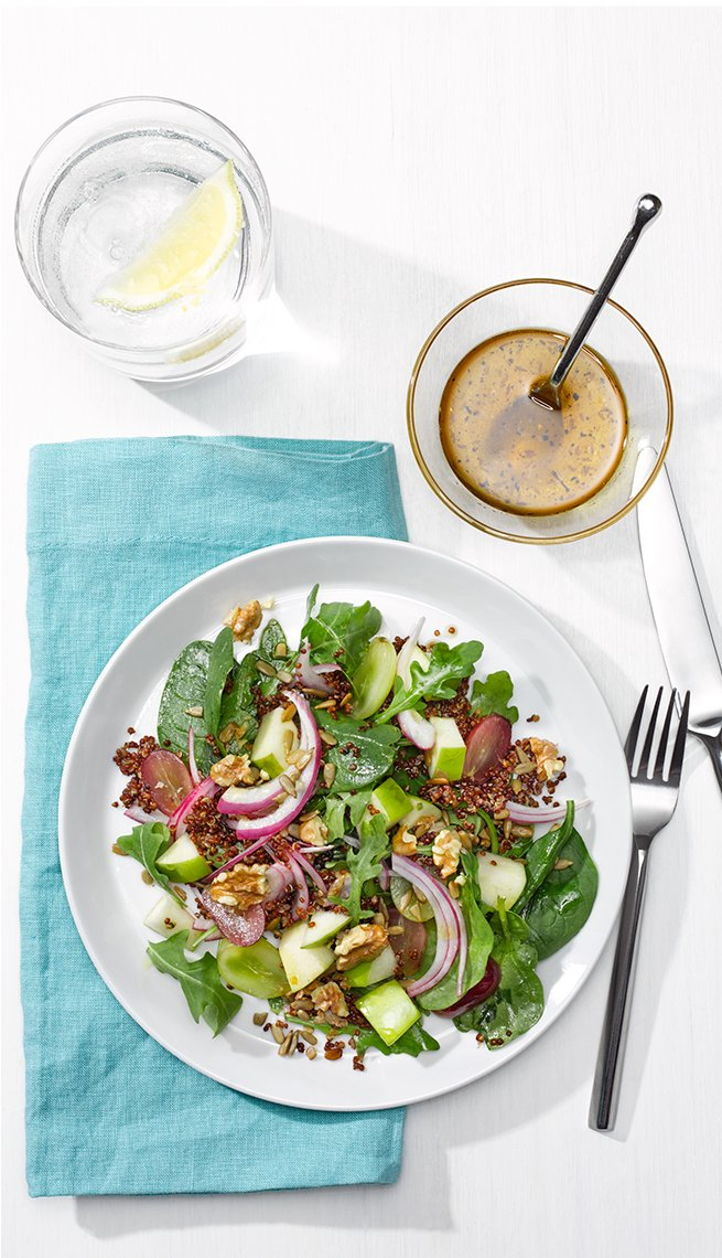 Arugula salad, quinoa, Cancer Fighting Recipes