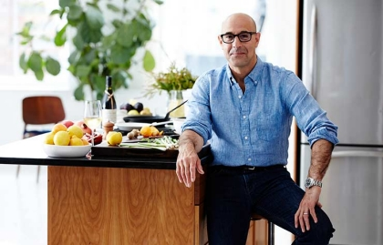 Stanley Tucci Photographed Making His Quinoa Dish