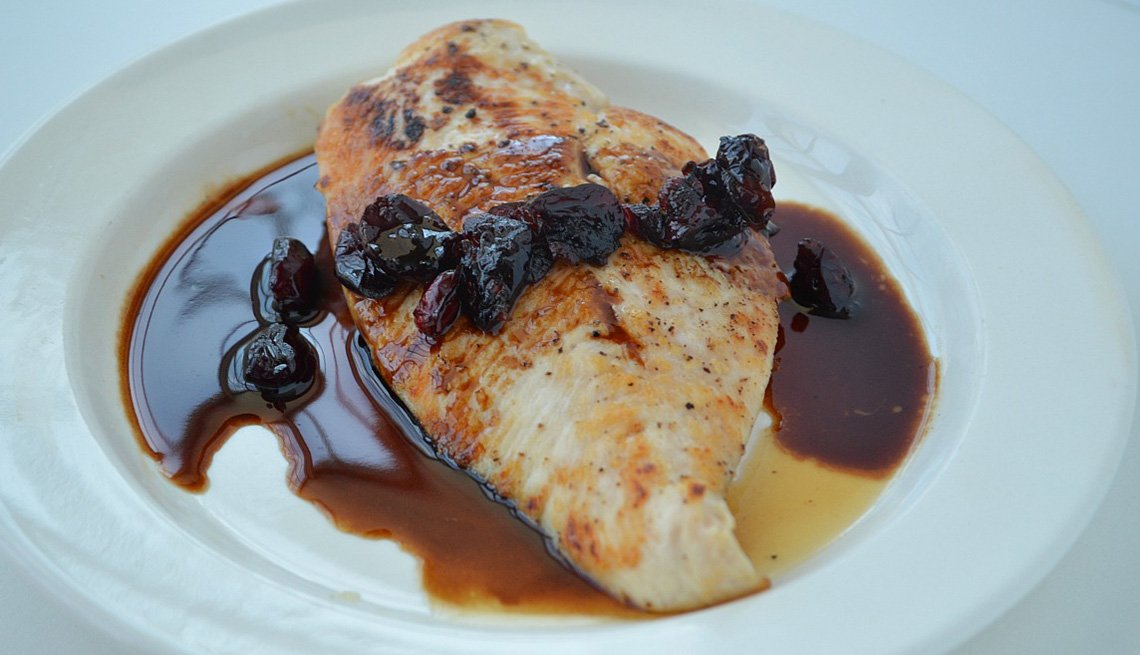 Chicken Cutlet With Blueberry Balsamic Sauce, AARP Food And Recipes, Eight Healthy Chicken Recipes