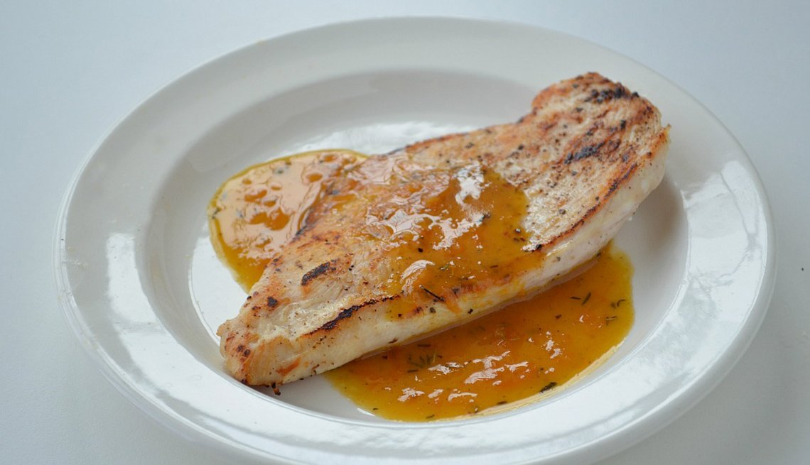 Chicken Cutlet With Dijon Orange Sauce, AARP Food And Recipe, Eight Healthy Chicken Recipes