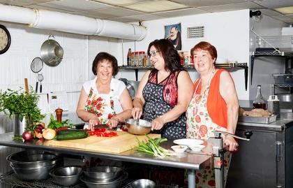 Rosaria Vigorito, Rosa Turano y Teresa Scalici