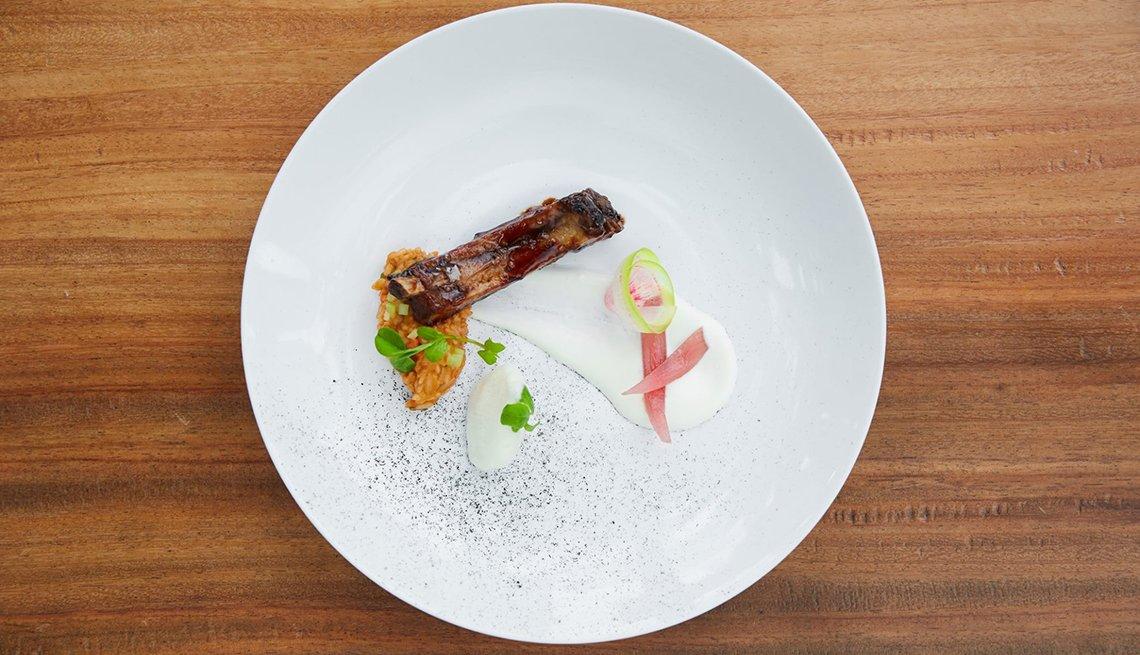 Costillas de cerdo en salsa BBQ de guayaba