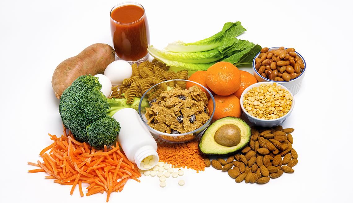 Frutas, vegetales y nueces