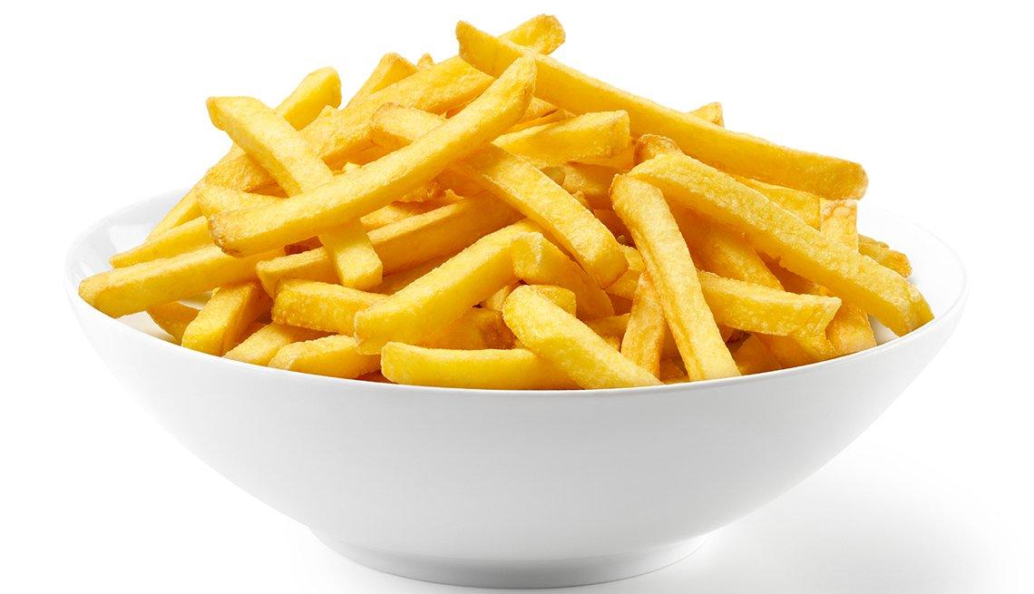 Envase con papas fritas