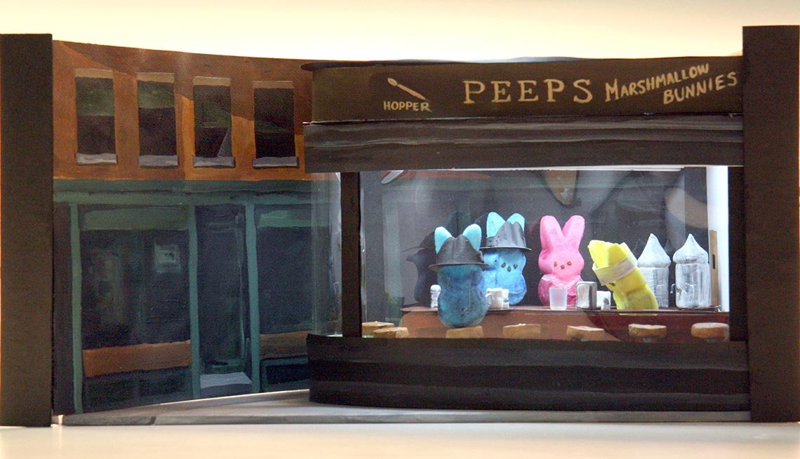 NightPeeps diaroma, Edwin Hopper, 11 Things You Didn't Know About Peeps