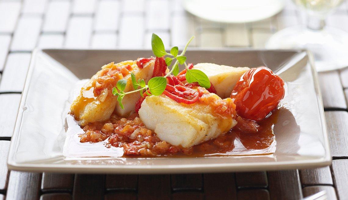 Bacalao en salsa de chile