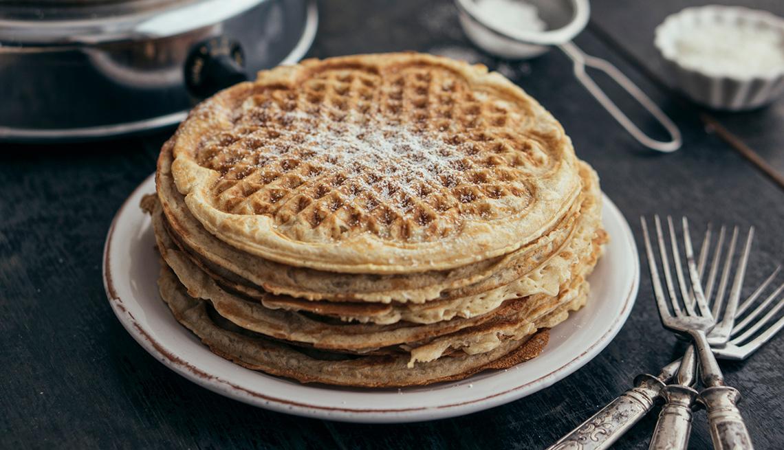 Consejos para cocinar con harina de coco - Waffles veganos de banana y coco