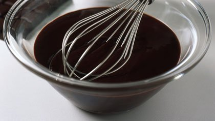 bowl of dark chocolate