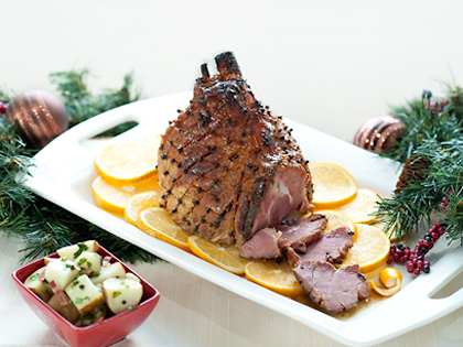Ham With Three Mustards Glaze