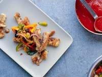 Escabeche de pez espada con pimientos de tres colores – Receta de Denisse Oller