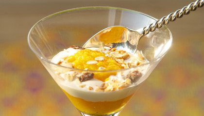 Apricot and Yogurt Parfait Meatless Monday recipe