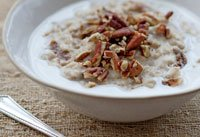Oatmeal recipe from Pam Anderson's Cook Without a Book Meatless Meals