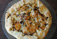 Roasted squash and vegetable galette.