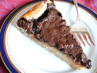 Slice of chocolate pecan galette from Pam Anderson's recipes
