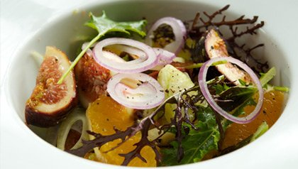 meatless monday recipe fig orange sweet onion fennel salad with mixed greens recipe