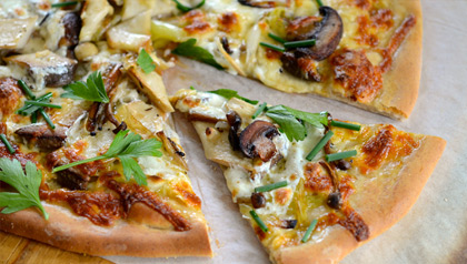 meatless monday recipe magic mushroom medley pizza