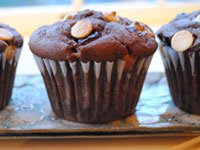 Muffins are a great side for a brunch strata.
