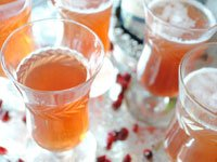 Pam Anderson's holiday brunch -  Pomegranate Mimosas