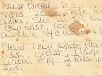 Rose Paine's recipe card