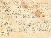 Rose Paine's recipe card