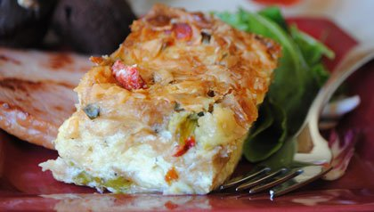 Pam Anderson's holiday brunch - a single serving of savory strata