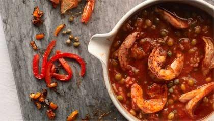 Shrimp Stew With Pigeon Peas