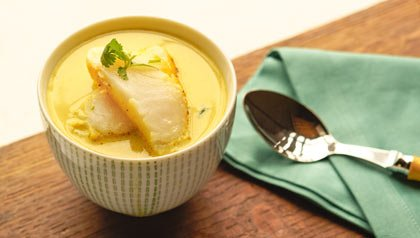 Sawfish With Curry in Coconut Milk