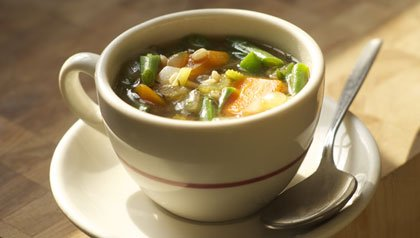 Miso Vegetable Soup with Barley