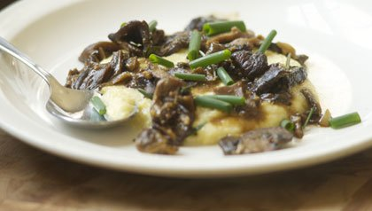 porcini mushrooms and polenta for meatless mondays
