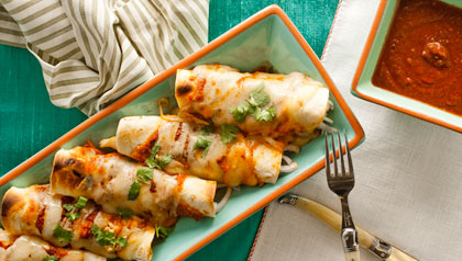 Chicken enchiladas with red salsa recipe aarp viva chicken enchiladas with red sauce forumfinder Images