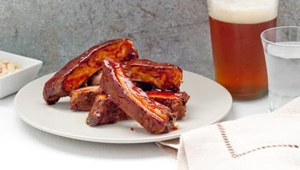 Grilled Baby Back Ribs Jamaican Style - Receta de Denisse Oller