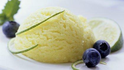 Lime sorbet frozen desserts recipes