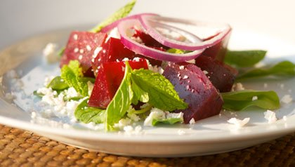 Meatless Monday recipe Roasted Beet and Feta Salad