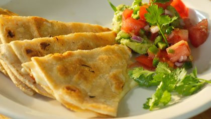 Quesadillas with Salsa Mexicana for Meatless Monday