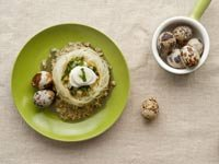 Pasta Nests with Quail Eggs - Recipe by Dennise Oller